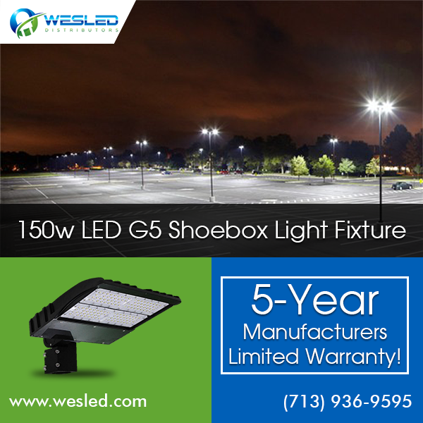 If You Need Overhead Lighting For A Parking Lot Or Small Park Led G5 Shoebox Lights Are Often Just What You Need Th Light Fixtures Led Lighting Solutions Led