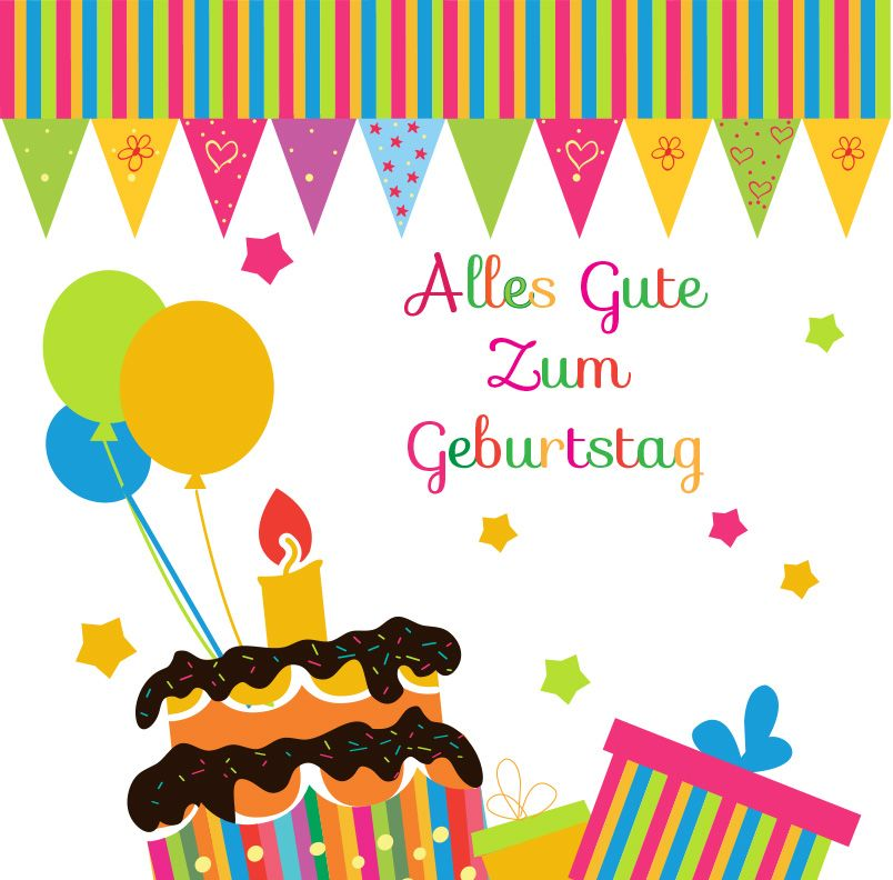 Happy Birthday In German Cards