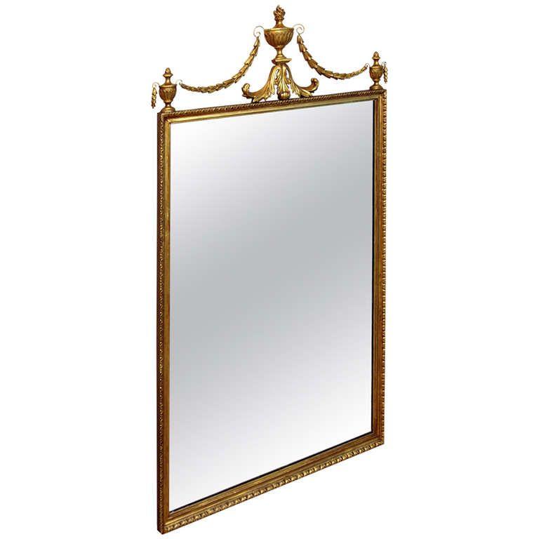 Antique 19th Century Gilt Pier Mirror