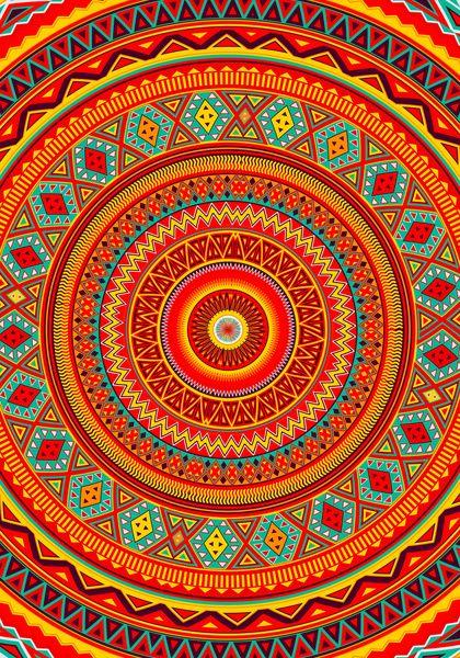 Mandala Aztec Pattern Art Print By Diego Tirigall
