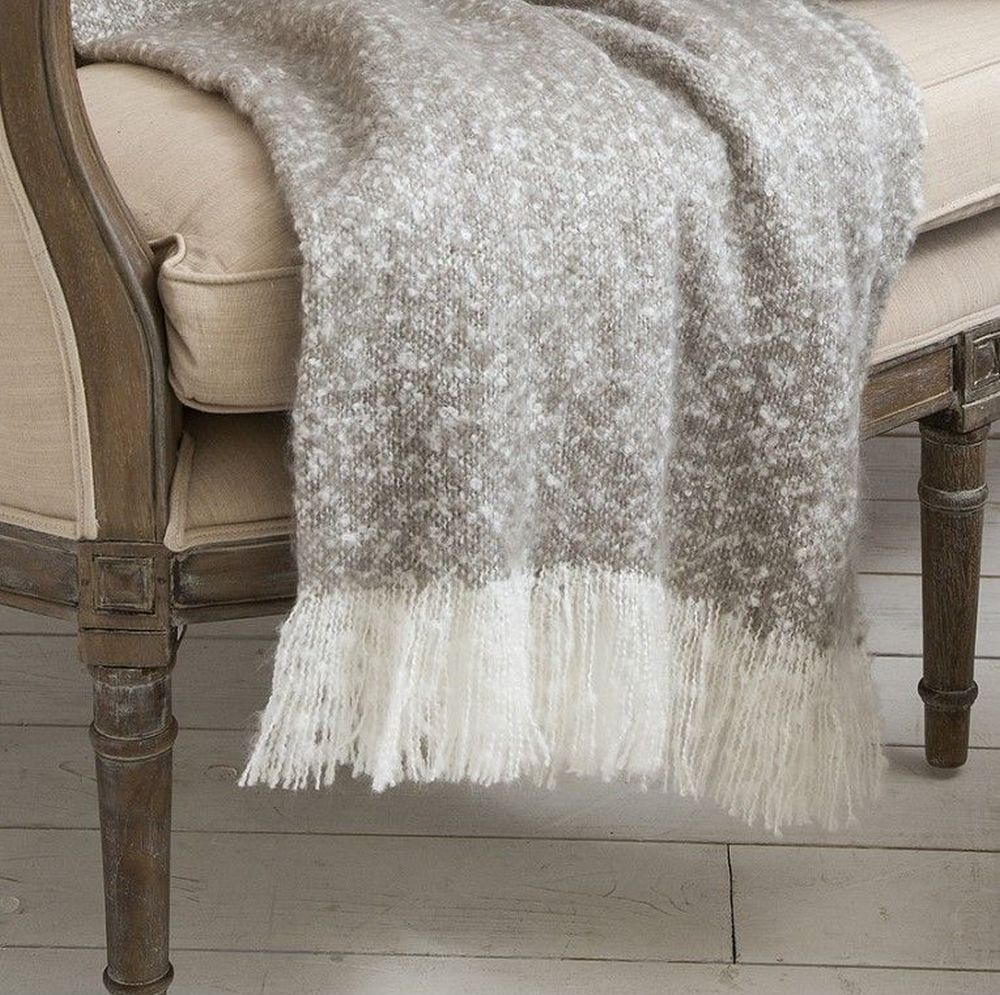 Gallery Direct Chic Faux Mohair Taupe Throw Mohair Throw Large Throws For Sofas Taupe