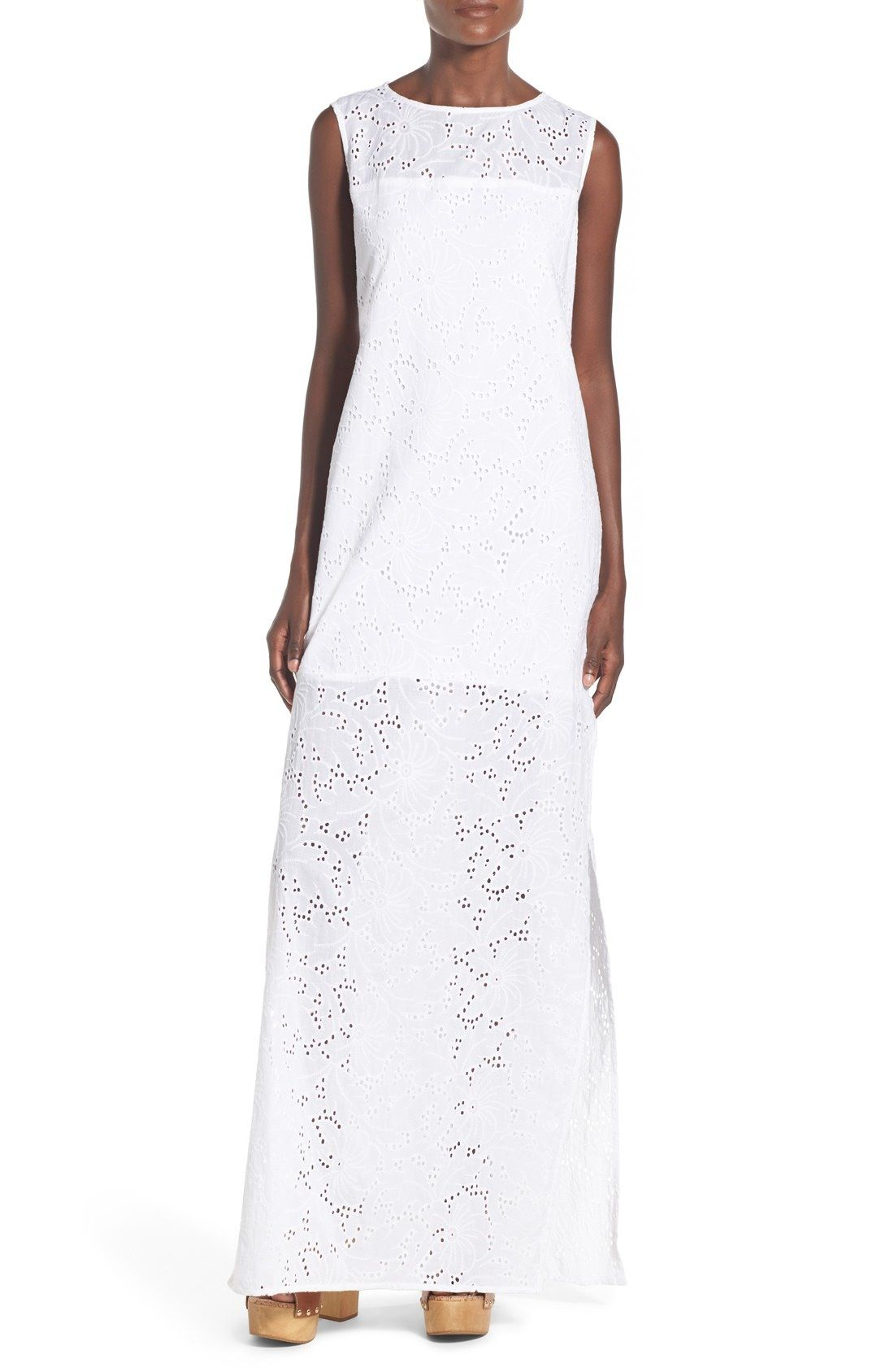 Rachel Antonoff 'Lafitte' Eyelet Cotton Maxi Dress available at #Nordstrom