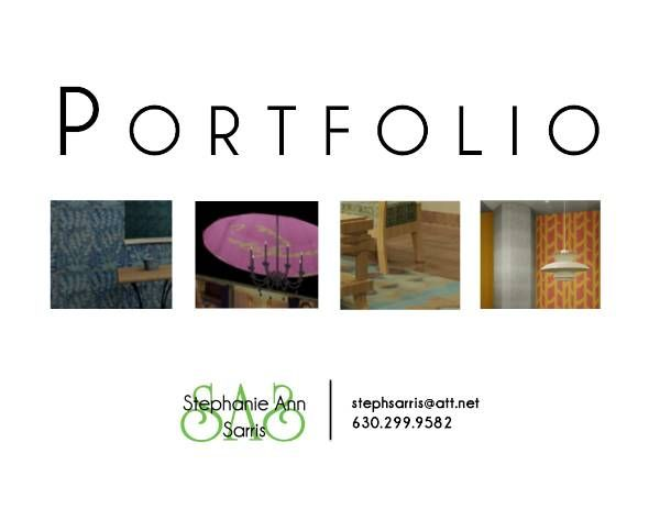 Stephanie ann sarris 39 s portfolio cover page online Fit interior design portfolio
