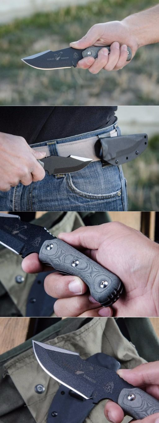 Tops Knives Eagles Shadow Fixed Blade Knife