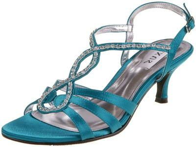 Teal Green Lexus Jilly Satin Diamante Kitten Heel Evening Sandals ShoesSatin ShoesWedding