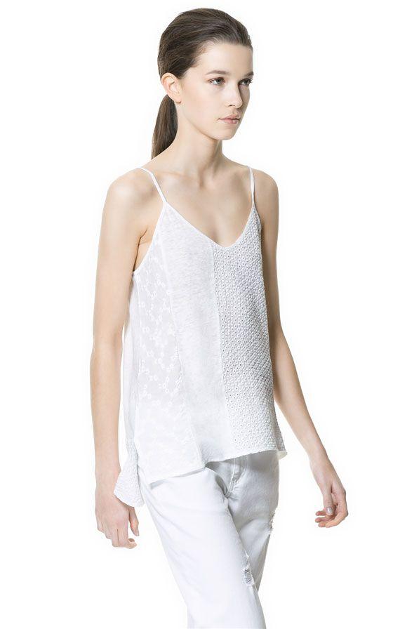 TOP PATHWORK de Zara