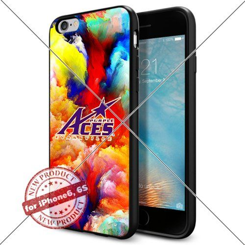 WADE CASE Evansville Purple Aces Logo NCAA Cool Apple iPhone6 6S Case #1124 Black Smartphone Case Cover Collector TPU Rubber [Colorful] WADE CASE http://www.amazon.com/dp/B017J7F2B8/ref=cm_sw_r_pi_dp_JCjtwb0896EDK