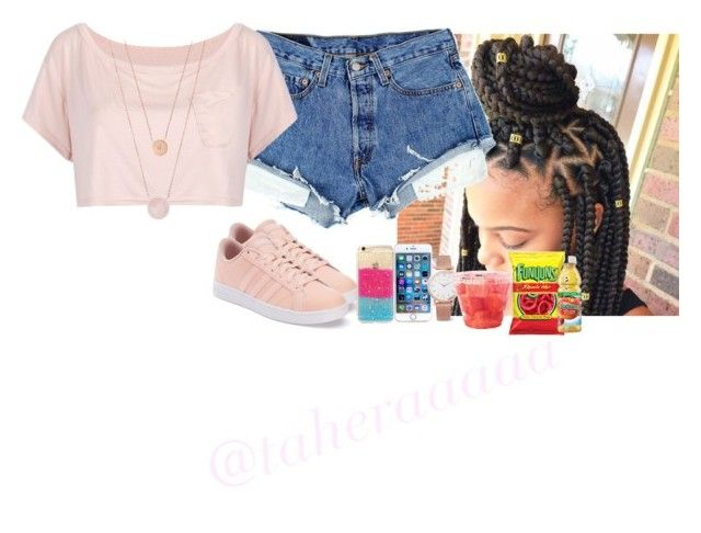 """""""7/11/16"""" by taheraaaaa ❤ liked on Polyvore featuring adidas, WithChic, Larsson & Jennings and Michael Kors"""