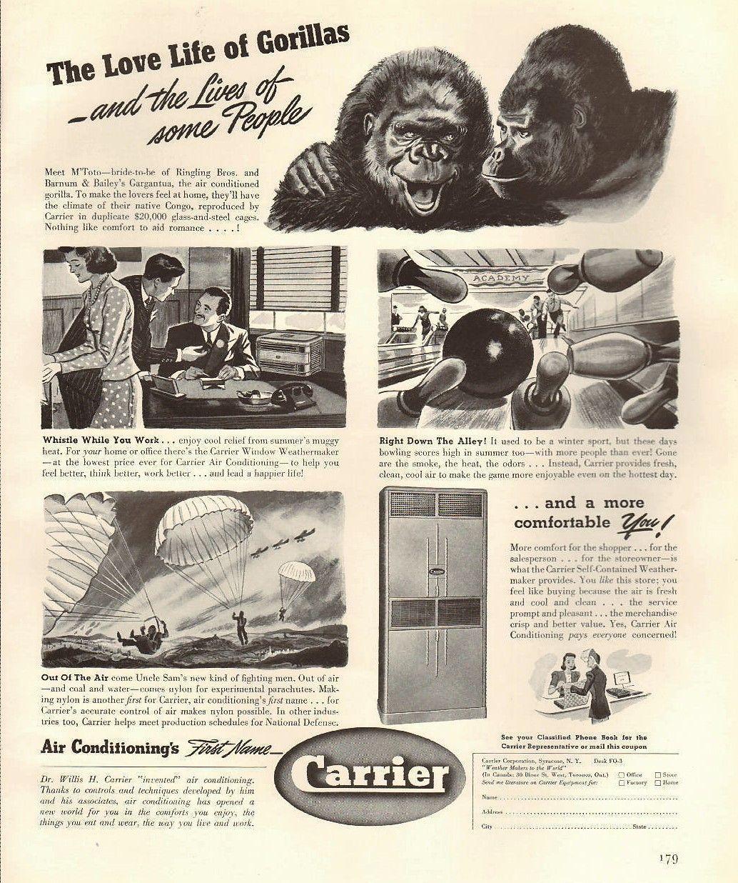 Vintage Carrier Ad In 1941 Vintage Hvac Stuff Carrier