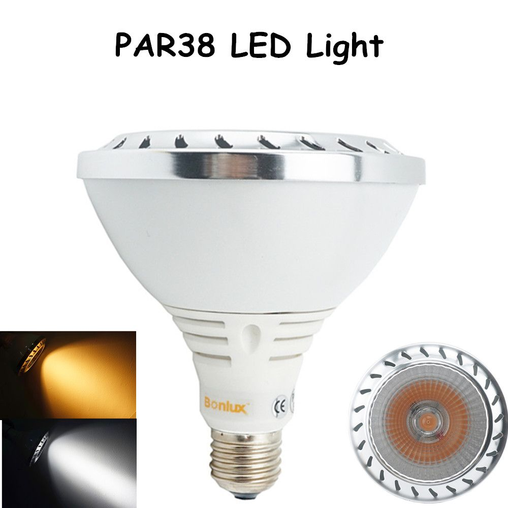 Aluminum Par38 Led Spotlight Bulb 20w 1800lm Cree Cob Leds E26 27 Medium Screw Base Light With 150w Halogen Bulb Repla Spotlight Bulbs Led Spotlight Led Lights
