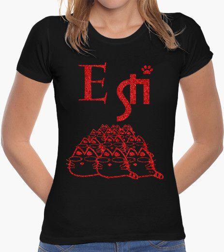 T-shirt E STI..GLITTER ROSSO