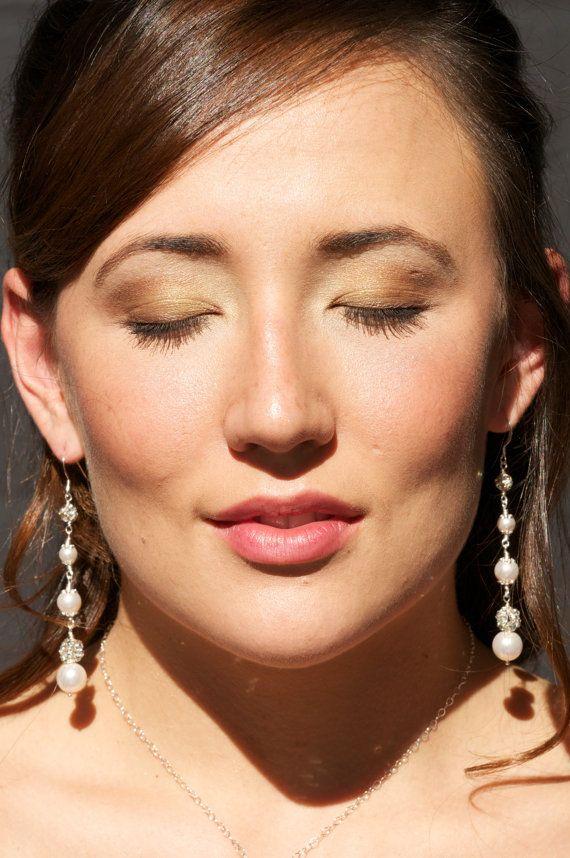 Wedding Earrings. Bridal Earrings. Rhinestone by AuroraJewelryBox