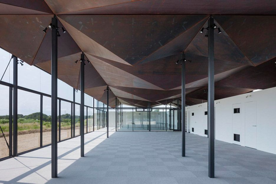 Best Nta Creates Crumpled Weathering Steel Canopy For Japan 640 x 480