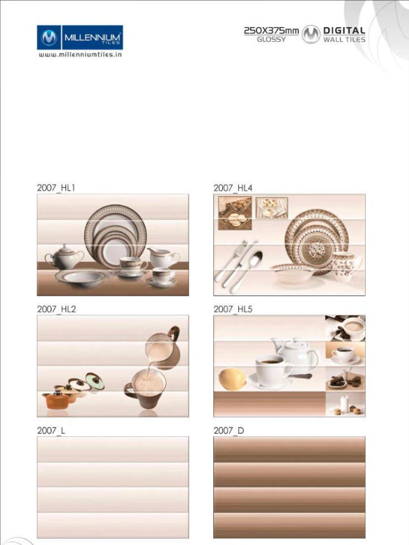 Kitchendesign 2007 Millennium Tiles 250x375mm 10x15 Digital Ceramic Glossy Walltiles Series 2007 Hl1 2007 Hl2 20 Wall Tiles Ceramic Wall Tiles Tiles