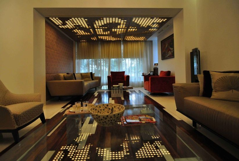 Luxurious Living Room By SHROFFLEoN Interior Designer In Mumbai Maharashtra India