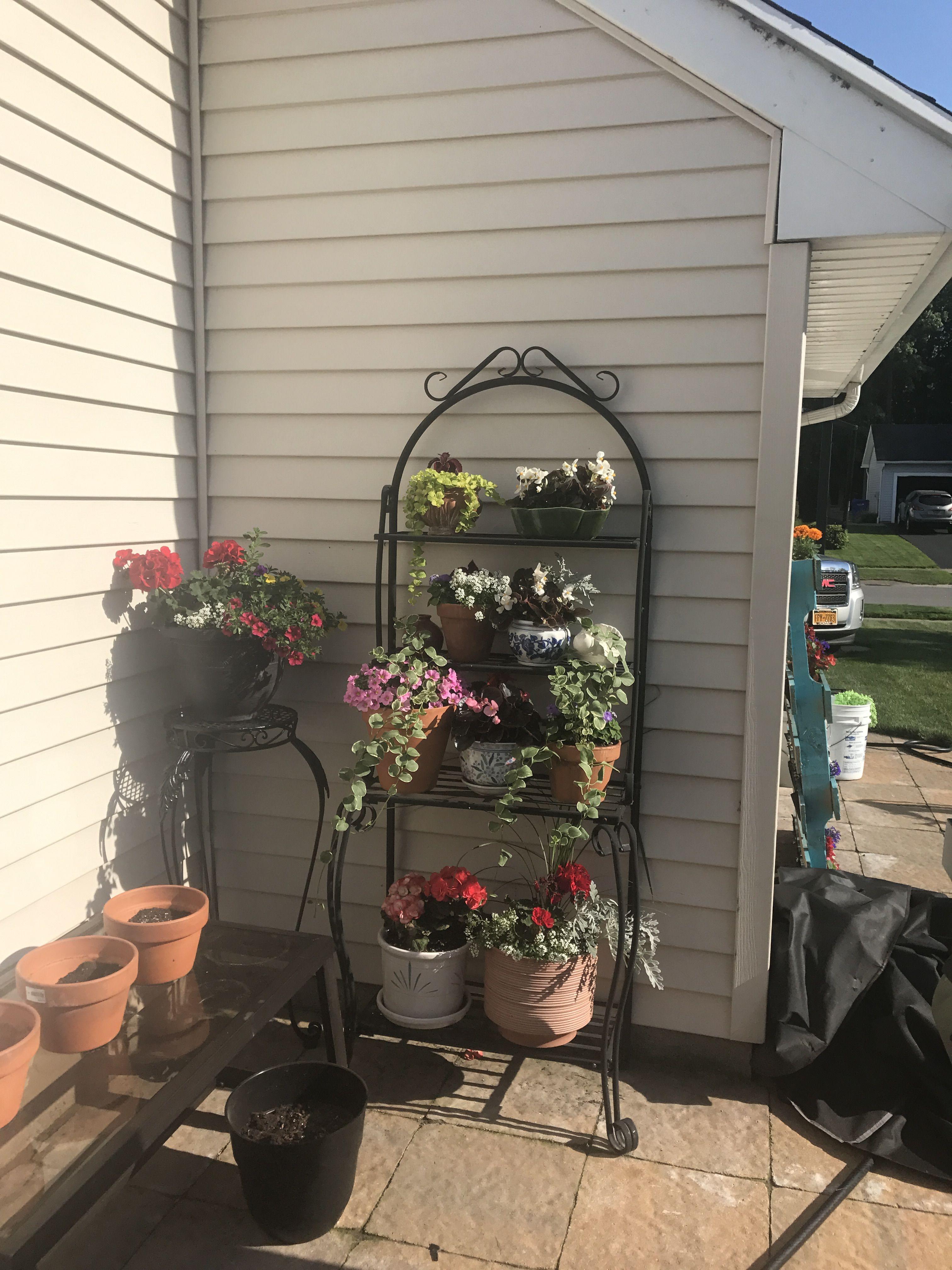 Repurposed Bakers Rack Outdoor Planter Outdoor Planters