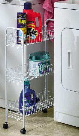 Slimline Laundry Utility Cart Fits In Between The Washer And
