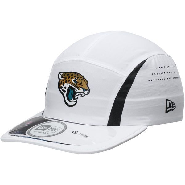 Men s Jacksonville Jaguars New Era White On-Field Training Camp Runner  CoolERA Hat 9997d2471