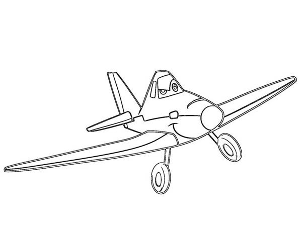 Disney Planes Dusty Is Confident To Win The Race In Coloring Page