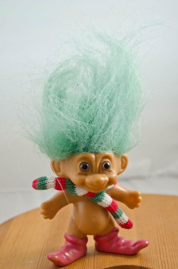 Troll Doll With Mint Green Hair