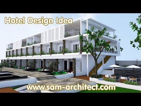 (17) SketchUp Hotel Design Idea - Samphoas 01 - YouTube