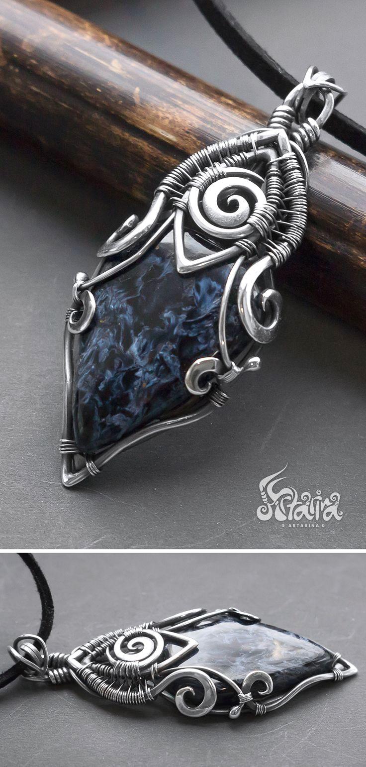Pietersite silver wire wrap pendant | Classic Necklaces For Women ...