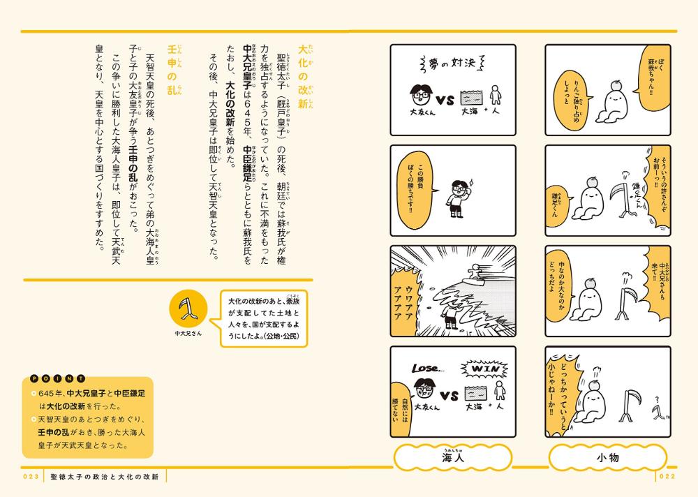 中学歴史がちゃっかり学べる ゆる4コマ教室 ニャロメロン 株 ムレ