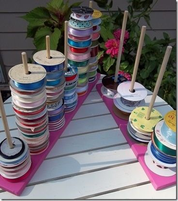 Diy Ribbon Spool Holder Ribbon Storage Ribbon Organization