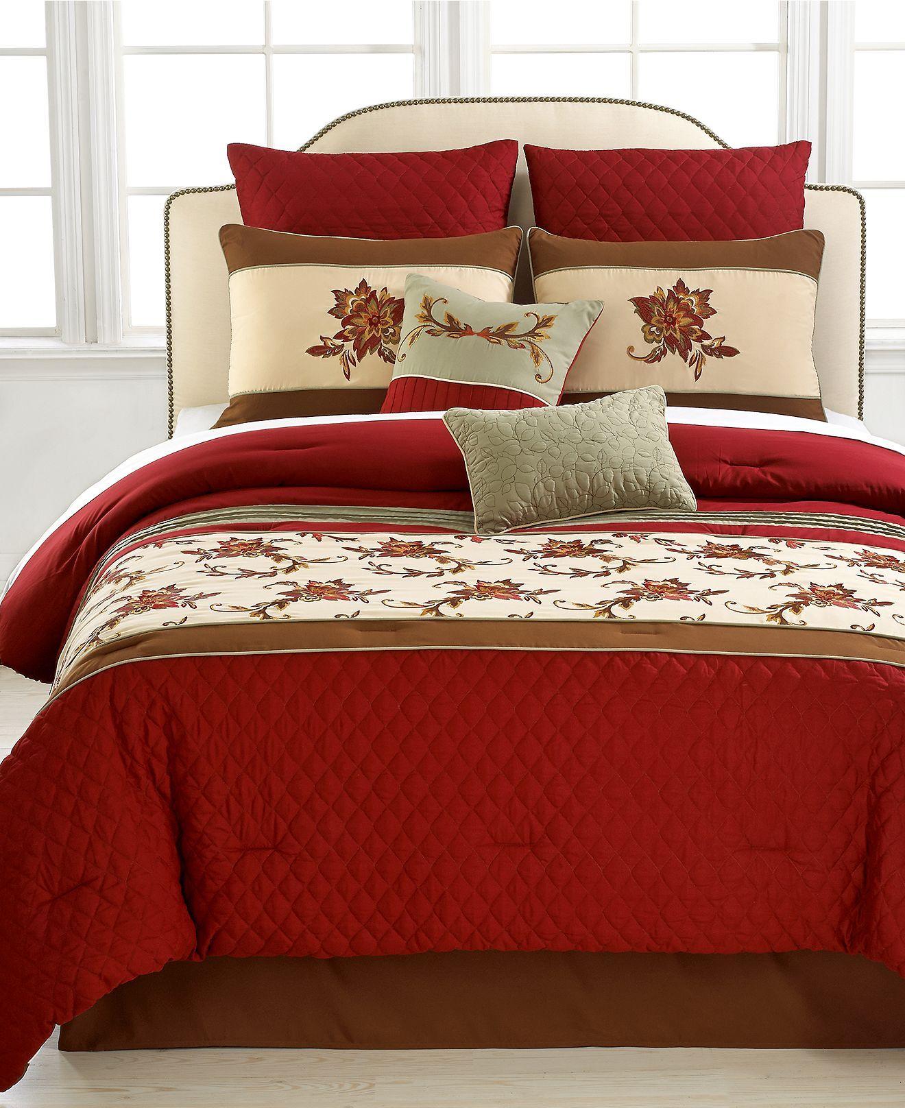 Glendale 8 Piece Comforter Set - Bed in a Bag - Bed & Bath ...