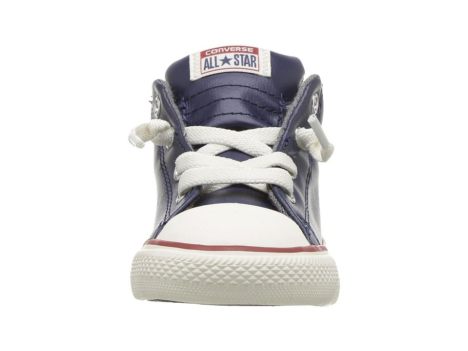 36a38f99c802 Converse Kids Chuck Taylor All Star Street Leather and Fleece Mid  (Infant Toddler)