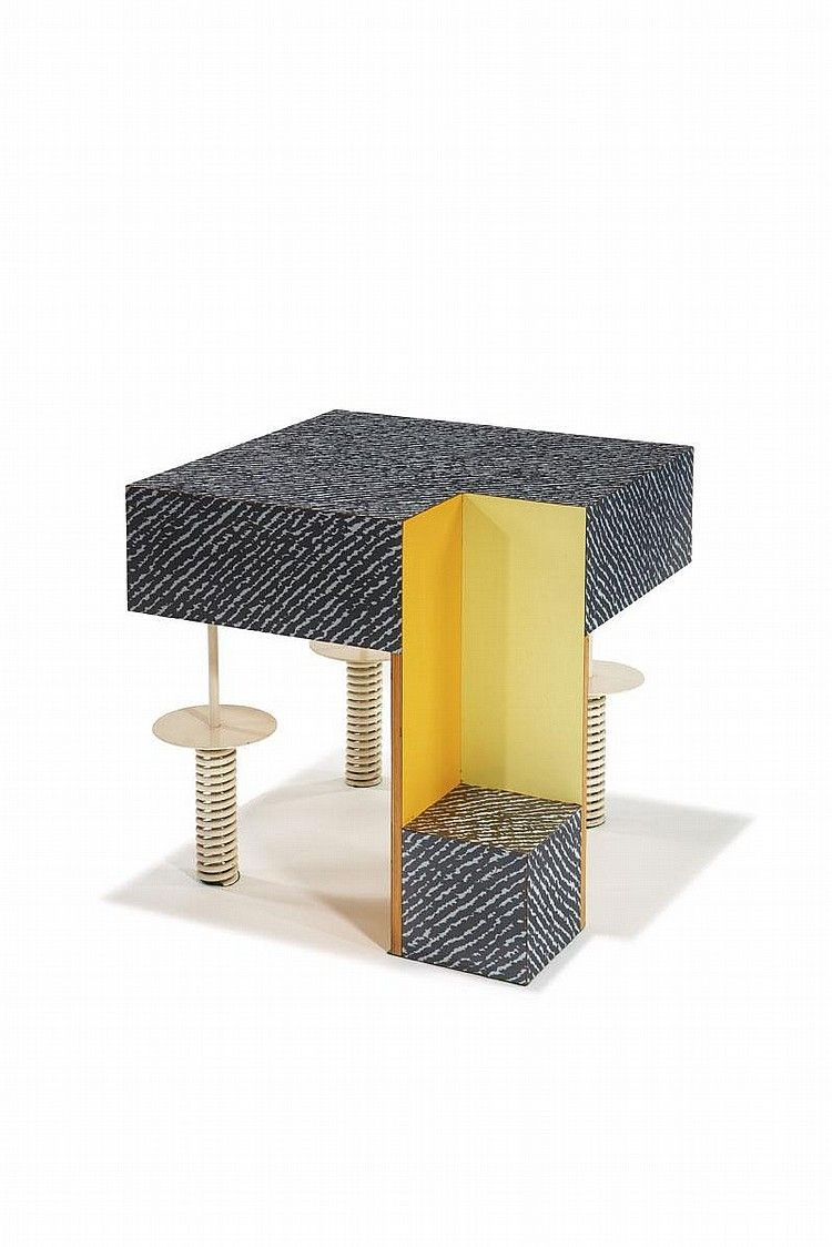 """Peter Shire / """"Untitled """" table / one of a pair"""