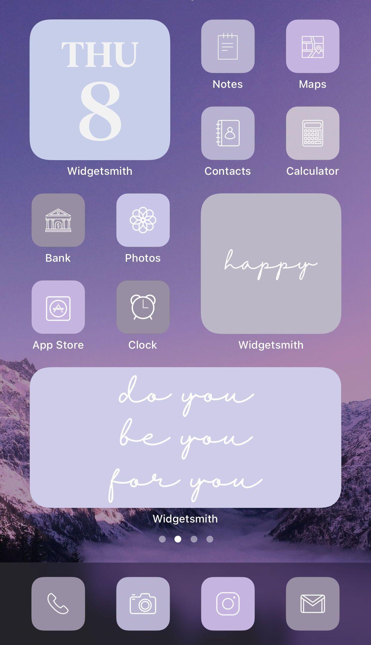 Purple Lavender Lilac Aesthetic 224 Iphone Ios 14 App Icons Ios14 Widget Photos Widgetsmith Shortcuts Widget Covers Ios 14 Icon Pack Iphone Wallpaper App Inspiration App Homescreen