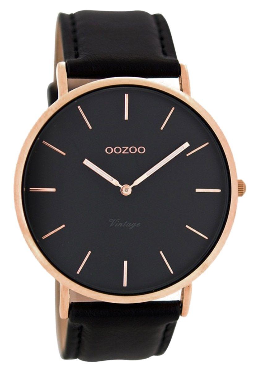 Oozoo C8139 Vintage Armbanduhr Mit Lederband 44 Mm Schwarz Jetzt Gunstig Im Uhrcenter Uhren Shop Bestellen Geprufter Online Vintage Uhren Uhren Uhren Herren