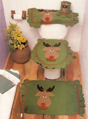 cubre baños navideños - Buscar con Google  juego de baño ...