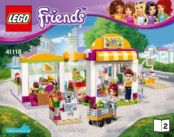 LEGO Friends 41118 Heartlake Supermarket STICKER SHEET