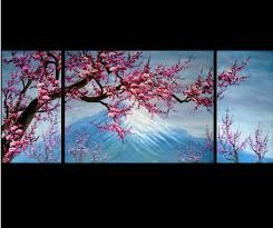 famous japanese cherry blossom oil painting - Google Search