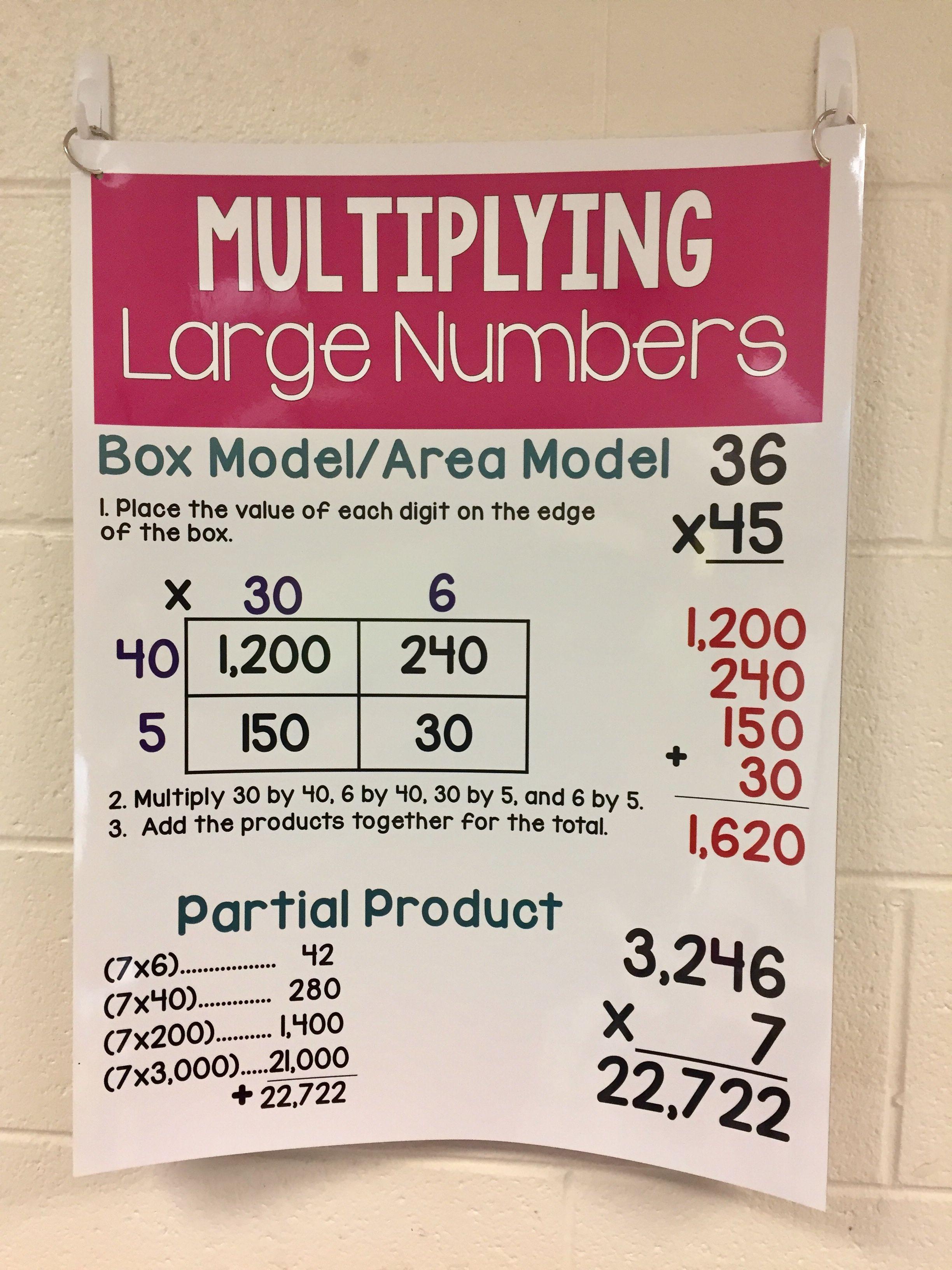 Teaching Multi Digit Multiplication