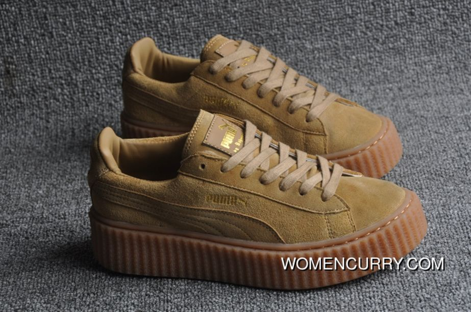 Buy Cheap Puma by Rihanna Suede Creepers Men'sWomen's Shoes