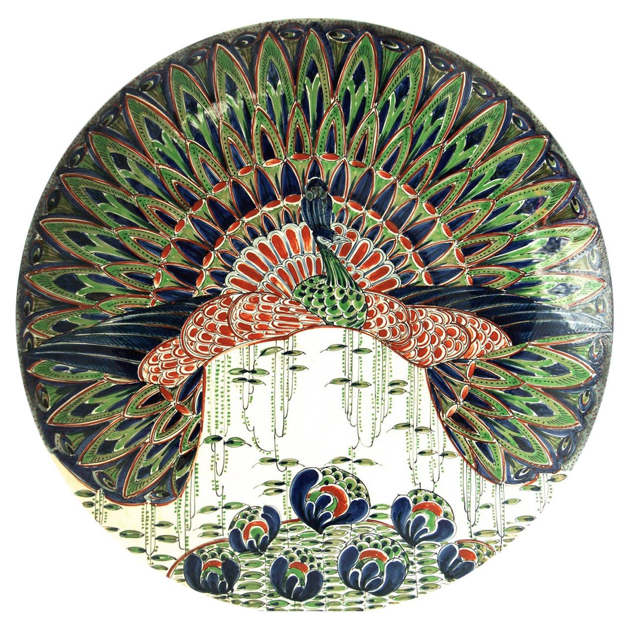 Art Nouveau Ceramic Wall Plate | 1stdibs.com  sc 1 st  Pinterest & Art Nouveau Ceramic Wall Plate | Ceramic art