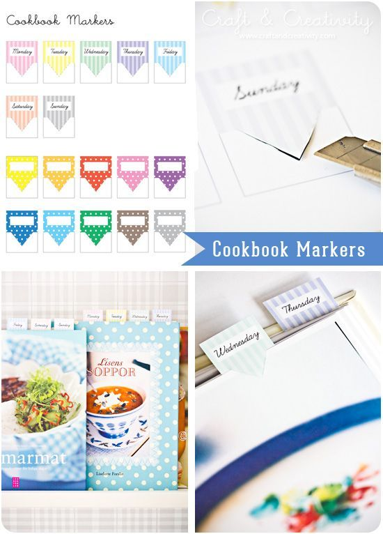 these free printable cookbook markers will help you organize your