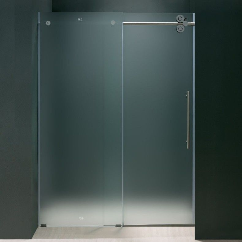 doors glass intended door bathroom for interior inside bat swing frosted with