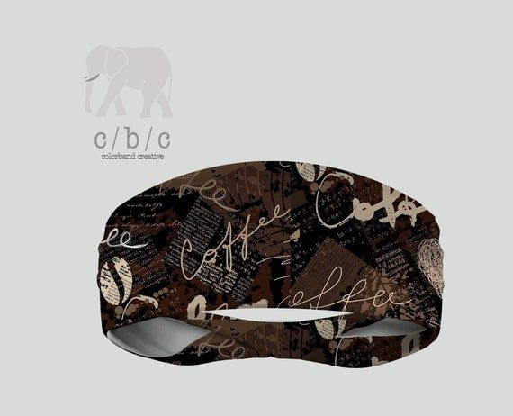 Coffee Headband, Yoga Headband, Fitness Headband, Custom Headband, Running Headband, Indie Headband, #yogaheadband