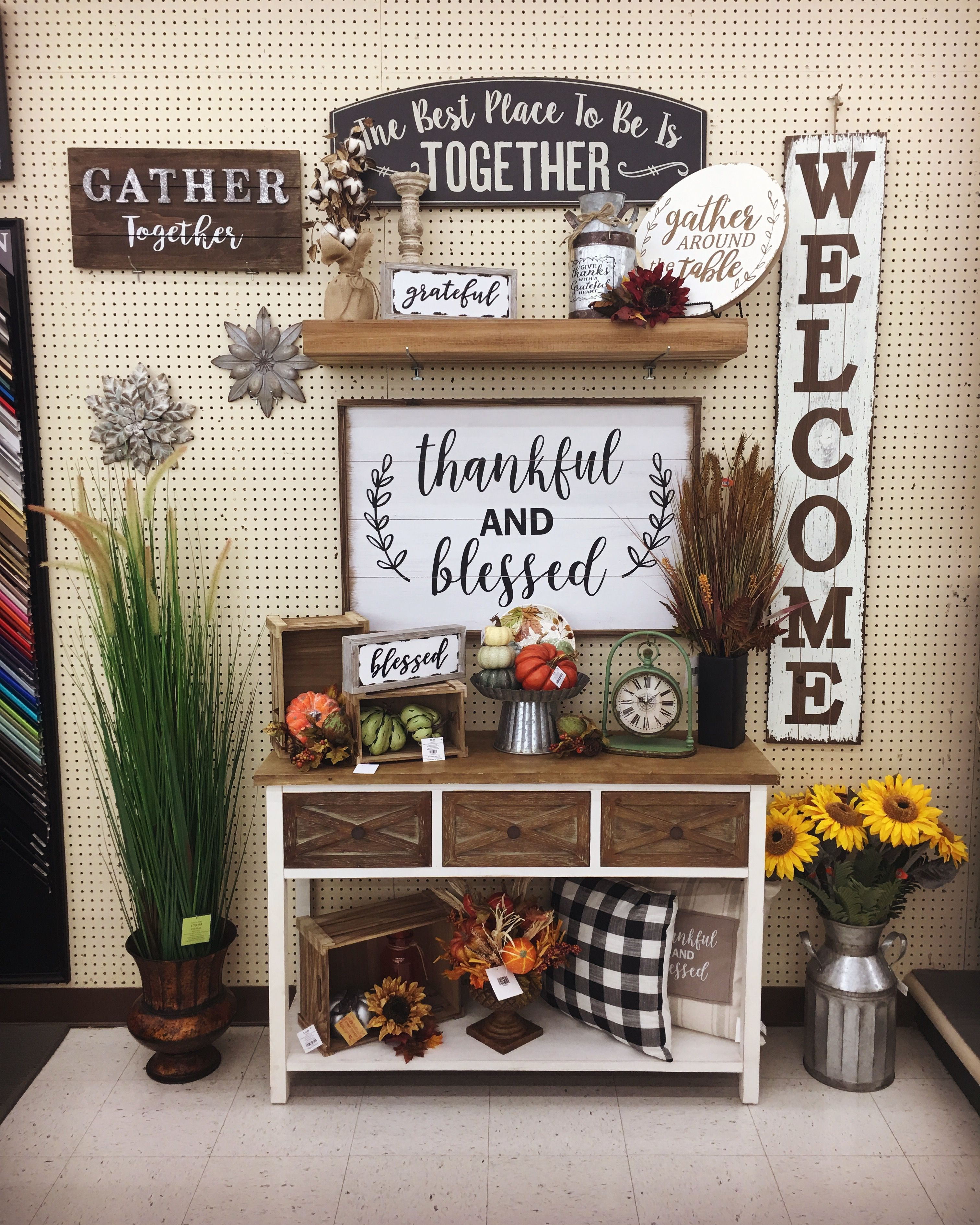 Big Thankful And Blessed Wall Frame Hobby Lobby Fall Decor Hobby Lobby Decor Decor