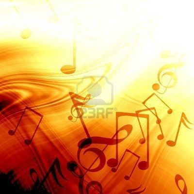 fire like abstract background with music notes Stock Photo - 3356379