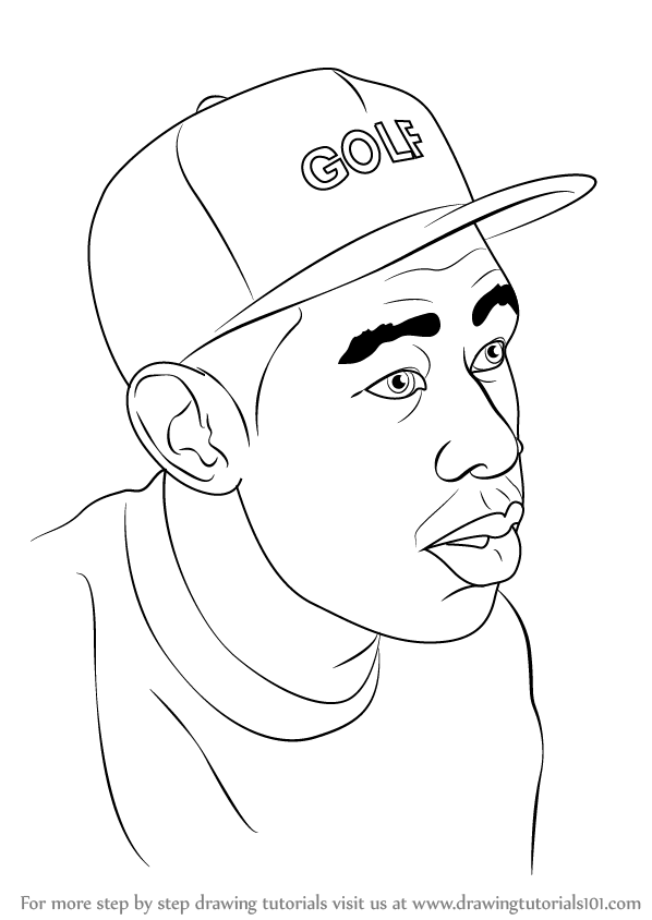 Tyler The Creator Drawing : tyler, creator, drawing, Learn, Tyler,, Creator, (Celebrities), Drawing, Tutorials, Outline, Drawings,, Canvas, Paintings,, Drawings