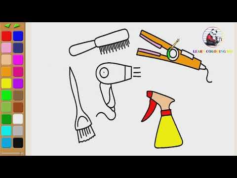 How To Draw Comb Clipart Coloring Page For Kids I Learn Coloring
