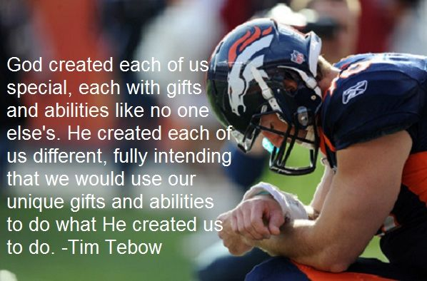 Tim Tebow Inspirational Quotes: Tim Tebow God Quote