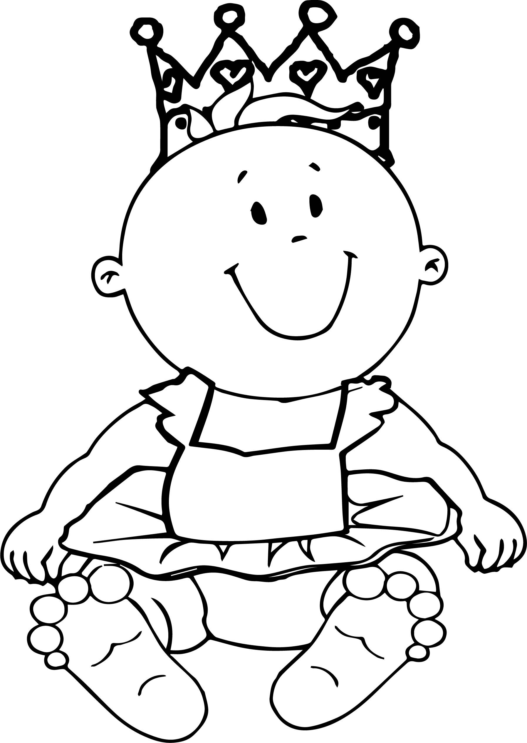 Prince Baby Boy Coloring Page | Coloring pages for boys ...