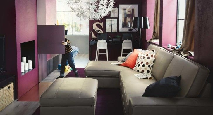 IKEA Room Design Ideas that Eye Catching: Fascinating Ikea Room Design Ideas 2017 Small Spaces Elegant Interior Living Room Design With Comfortable Grey Sofa And Various Colors Of Cushions Decorating Ideas ~ enokae.com Furniture Inspiration