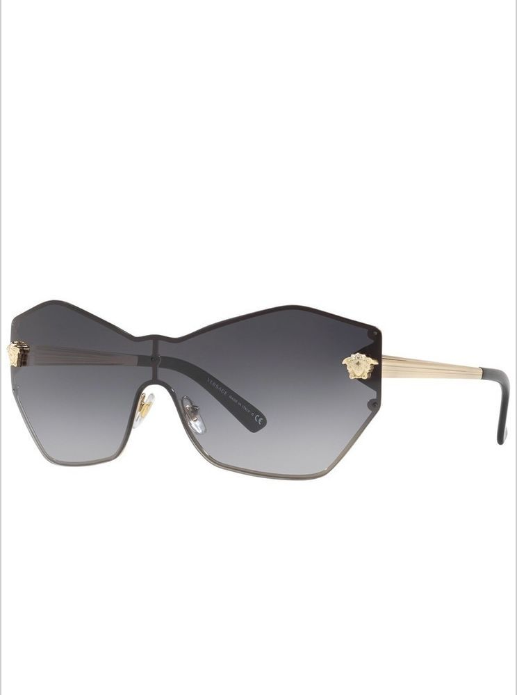 d95a80492fd9 VERSACE VE2182 Womens Gold Brown Gradient Full Rim Metal Sunglasses  1252-13-140  fashion  clothing  shoes  accessories  womensaccessories ...
